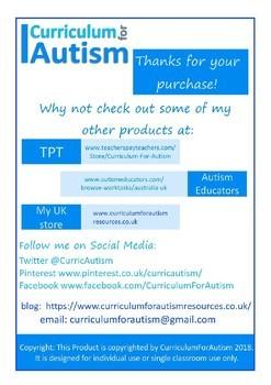 Cut & Paste Houses Picture Match Autism Special Education