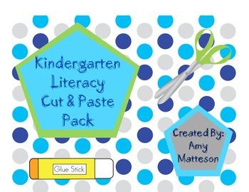 Cut & Paste Kindergarten Literacy Pack
