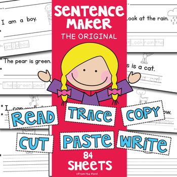 Sentence Writing Worksheet Activities {Difefrentiated}