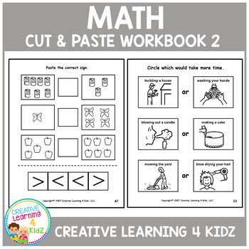 Cut & Paste Math Workbook 2 ABA Autism