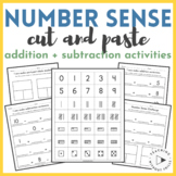 Cut & Paste Number Sense Activities: Addition, Subtraction, Part-Part-Whole