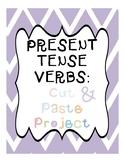 Cut & Paste Present Tense Verb Practice