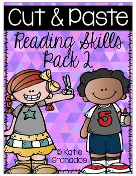 Cut & Paste Reading Skills Activities Pack 2