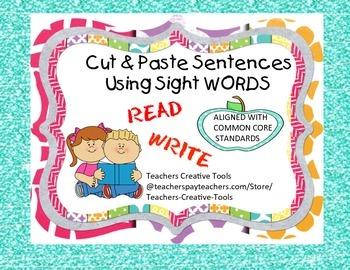 Cut & Paste Sentences Using Sight Words