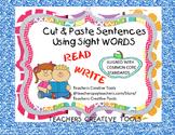 Cut & Paste Sentences Using Sight Words Part 2