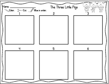 Cut & Paste Sequencing: The Three Little Pigs and The Billy Goats Gruff
