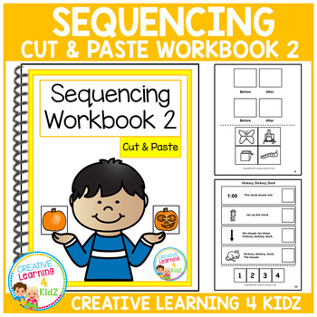 Cut & Paste Sequencing Workbook 2 ABA Autism