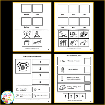 Cut & Paste Sequencing Workbook Bundle Autism