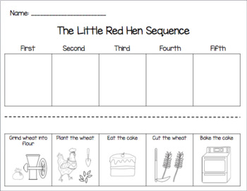 Cut & Paste Sequencing with The Little Red Hen