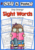 Cut & Paste Sight Words  {Pre Primer}