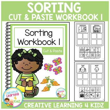 Cut & Paste Sorting Workbook 1 ABA Autism
