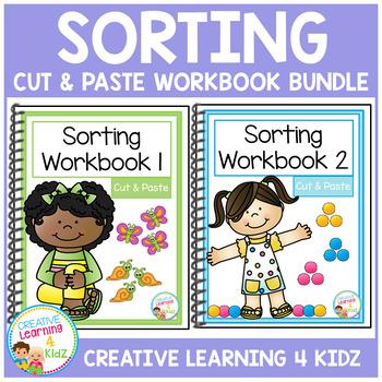 Cut & Paste Sorting Workbook Bundle Autism