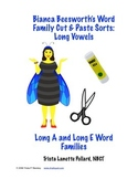 Word Sorts: Cut and Paste Long A & Long E Words