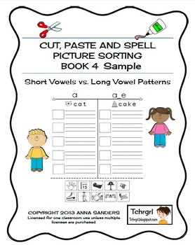 Cut and Paste & Spell Phonics Picture Sorting Worksheets L