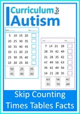 Multiplication Facts Skip Counting Autism