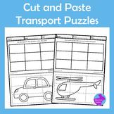 Cut Paste Transport Puzzles Fine Motor Scissor Skills OT