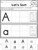 Cut & Paste Uppercase & Lowercase Alphabet Letters A - Z