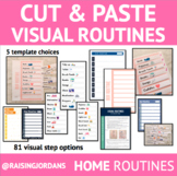 Cut & Paste Visual Routines- FOR HOME/LIFE SKILLS ROUTINES