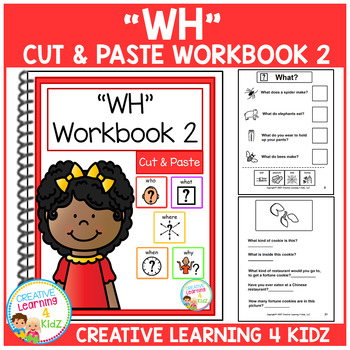 Cut & Paste WH Workbook 2 ABA Autism