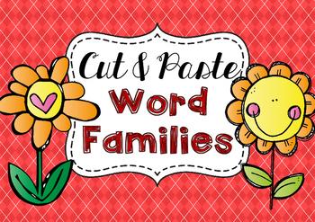 Cut & Paste CVC Word Families