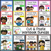 Cut & Paste Workbook Bundle {Complete Set} Autism Special Education