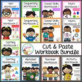 Cut & Paste Workbook Bundle {Complete Set} Autism Special Education
