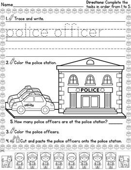 Cut & Paste and More! ~ Community Helpers Special Deluxe Edition