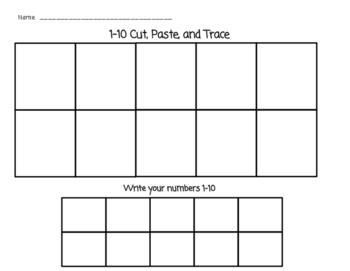 Cut, Paste, and Trace 1-10