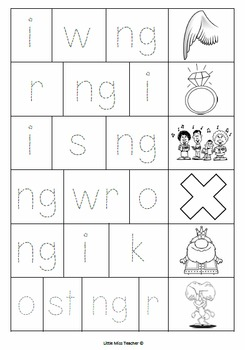 Cut, Paste and Trace! - No Prep - All Consonant Blends and Digraphs