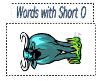 Cut & Paste short o CVC activity (Reading Street Unit 1, Week 3)