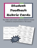 Cut & Print Student Feedback Rubric Cards