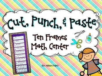 Cut, Punch, & Paste Ten Frames Freebie