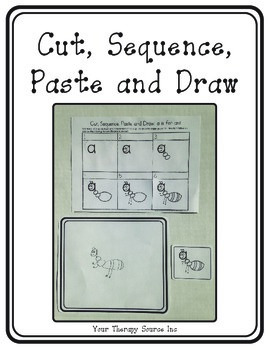 Cut, Sequence, Paste and Draw - Alphabet