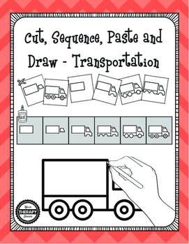 Cut, Sequence, Paste and Draw Transportation