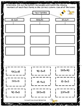 Cut, Sort, and Paste Math Review/Intervention Sheets
