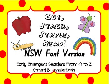 Cut, Stack, Staple, Read ~Early Emergent Readers A to Z~ N