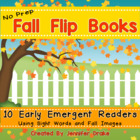 Fall Flip Books!  10 Early Emergent Readers