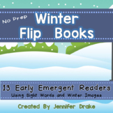 Winter Flip Books!  13 Early Emergent Readers
