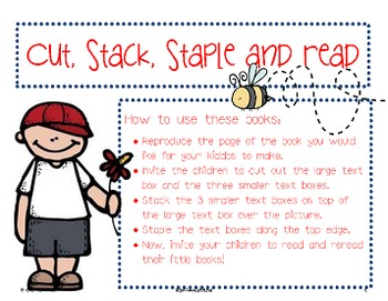 Sight Word Readers: Cut, Stack, Staple and Read