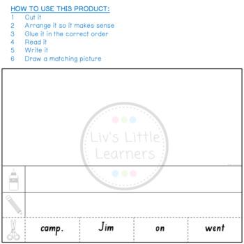 3 Word Sentence Construction