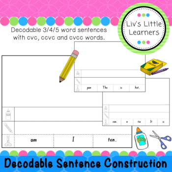 3 Word Sentence Construction