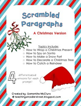 Scrambled Paragraphs (Differentiated): A Christmas Version