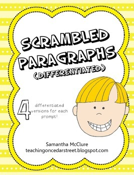 Scrambled Paragraphs (Differentiated): Daily Activities