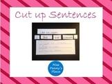 Cut Up Sentences