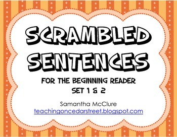 Scrambled Sentences: Beginning Reader Set 1 & 2