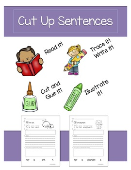 Cut Up Sentences Beginning Sounds - Free Version