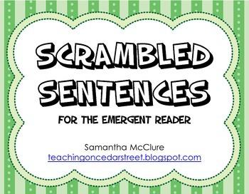 Scrambled Sentences: Emergent Reader