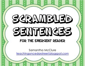 Scrambled Sentences: Emergent Reader