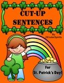 Cut-Up Sentences for St. Patrick's Day