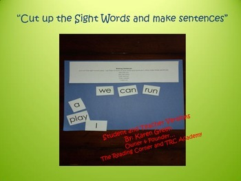 Cut Up the Sight Words and Make Sentences